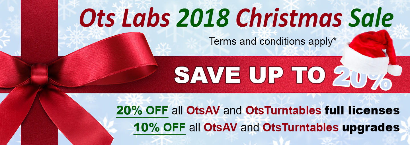 Ots Labs 2018 Christmas Sale - Save up to 20%